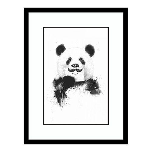 Amanti Art Funny Panda Framed Wall Art