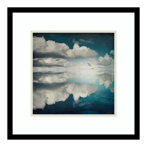 Amanti Art Spaces II Sea Clouds Framed Wall Art