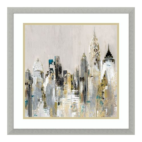 Amanti Art Golden Cityscape Framed Wall Art