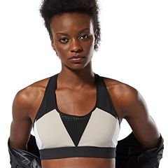 Reebok OS Hero Racer Padded Medium-Impact Sports Bra