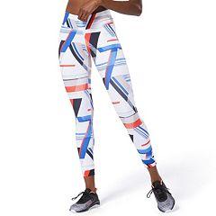 NEW! Women's Reebok OS Lux Bold Print Midrise Leggings