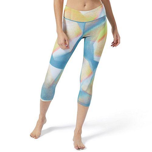 Women's Reebok Lux Bold Yoga Midrise Capri Leggings