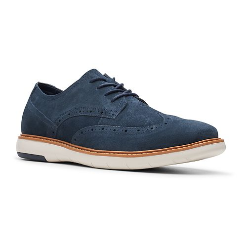 Clarks Draper Men's Suede Wingtip Shoes
