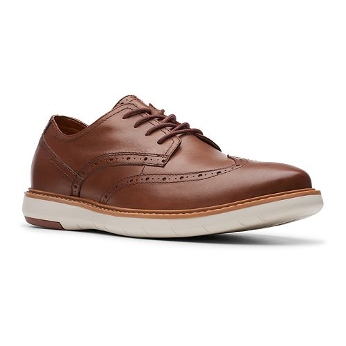 Clarks Draper Men's Leather Wingtip Shoes