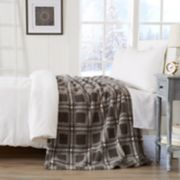 Sherpa Plaid Knitted Blanket
