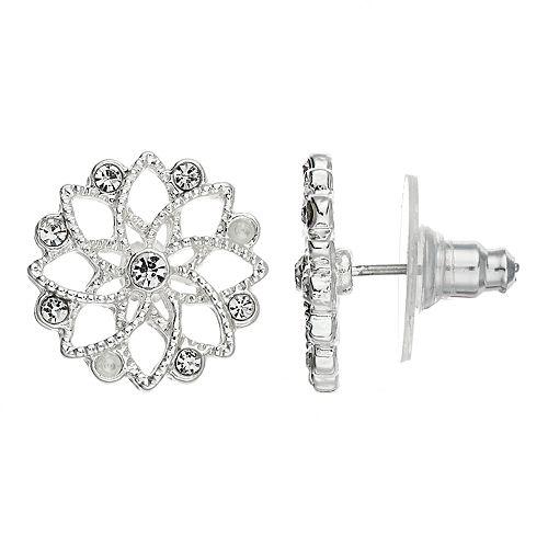 LC Lauren Conrad Lotus Flower Stud Earring