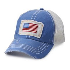 e0f917745d20f Women s American Flag Mesh Back Baseball Cap