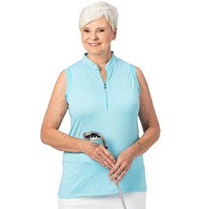 Plus Size Nancy Lopez Zipper Polo