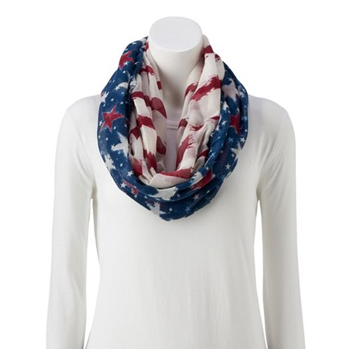 Women's Stars and Stripes Loop Scarf