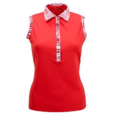 Plus Size Nancy Lopez Escapade Sleeveless Polo
