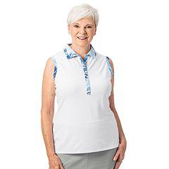 Plus Size Nancy Lopez Escapade Sleeveless Polo