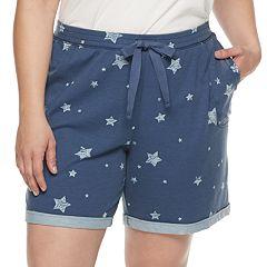 Plus Size SONOMA Goods for Life™ Bermuda Sleep Shorts