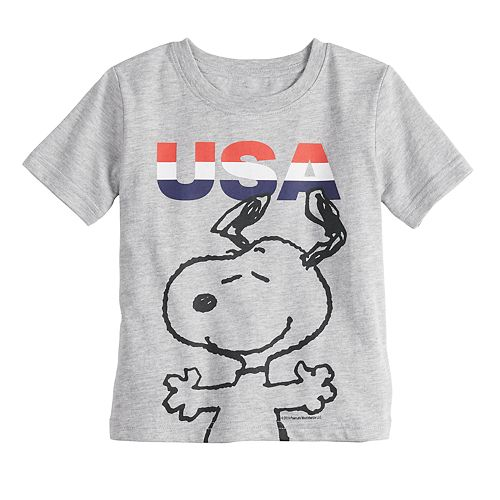 "Baby Family Fun™ Peanuts Snoopy ""USA"" Graphic Tee"