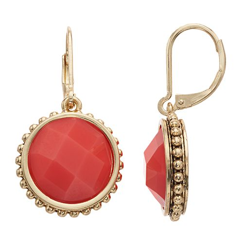 Napier Circle Drop Earrings