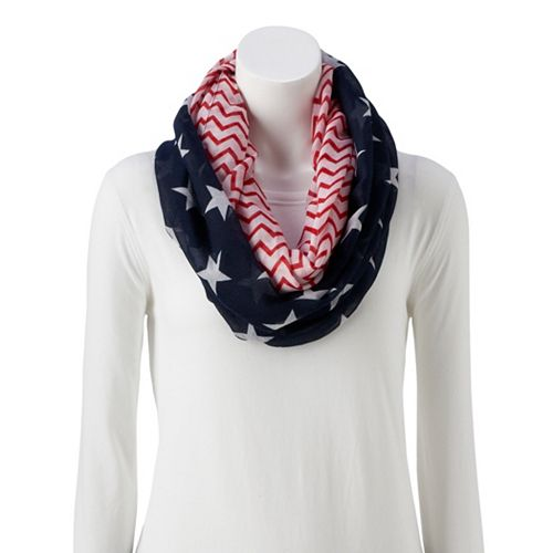 Women's Stars and Chevron Loop Scarf
