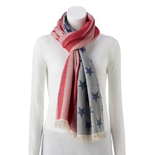 Women's American Flag Scarf