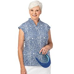 Plus Size Nancy Lopez Native Printed Polo