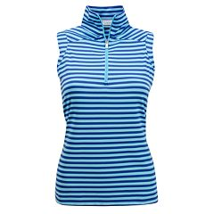 Plus Size Nancy Lopez Flight Sleeveless Zipper Polo
