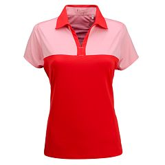 Plus Size Nancy Lopez Pursuit Colorblock Polo