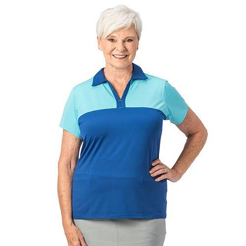 Plus Size Nancy Lopez Pursuit Colorblock Polo