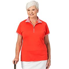 Plus Size Nancy Lopez Wild Zipper Polo