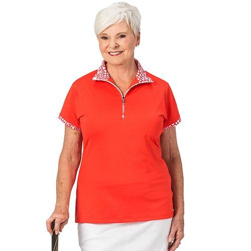 Plus Size Nancy Lopez Wild Zipper Polo