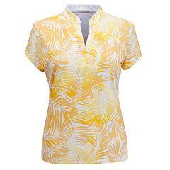 Plus Size Nancy Lopez Tropic Print Polo