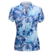 Plus Size Nancy Lopez Tropic Print Polo