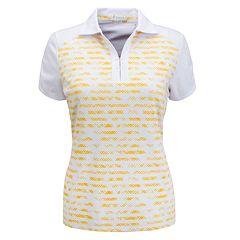 Plus Size Nancy Lopez Abstract Stripe Polo
