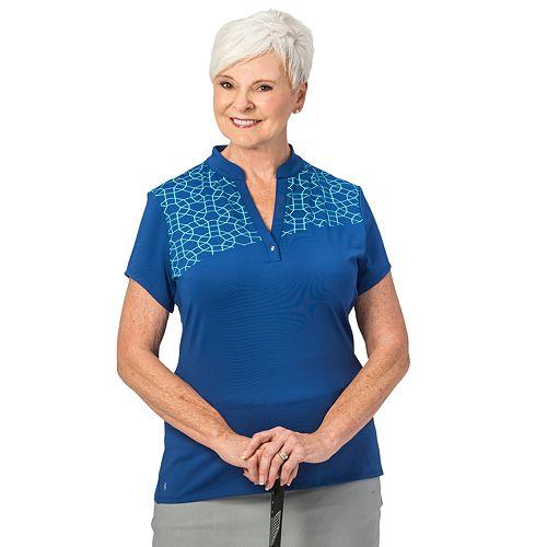 Plus Size Nancy Lopez Legacy Printed Polo