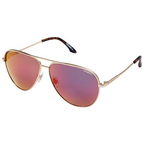 Unisex O'Neill Aviator Polarized Sunglasses