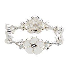 Napier White Flower Stretch Bracelet