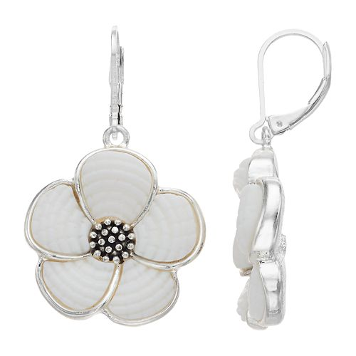 Napier Flower Drop Earrings