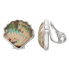 Napier Seashell Clip-On Earrings