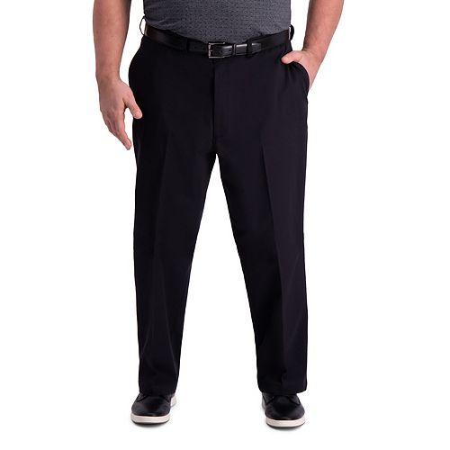 Big & Tall Haggar Premium Comfort Khaki Classic-Fit Flat-Front Hidden Expandable Waistband Casual Pants
