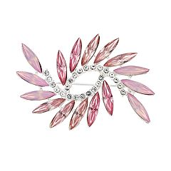 Napier Pink Simulated Crystal Twist Pin