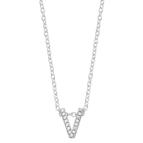 love this life Cubic Zirconia Initial Pendant Necklace