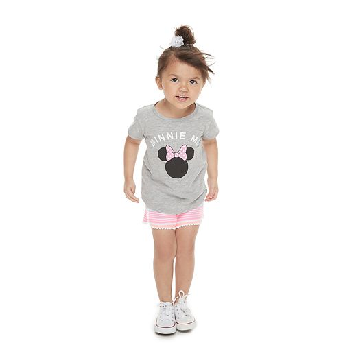 "Disney's Minnie Mouse Toddler Girl Family Fun Mommy & Me ""Minnie Me"" Graphic Tee"