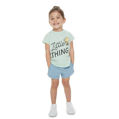 "Toddler Girl Family Fun™ Mommy & Me Peanuts Woodstock ""Little Thing"" Graphic Tee"