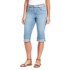 431764dd22429 Womens Blue Gloria Vanderbilt Crops   Capris - Bottoms