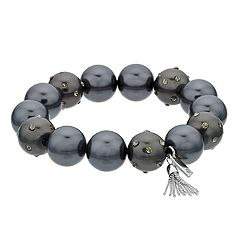 Simply Vera Vera Wang Simulated Black Pearl Stretch Bracelet