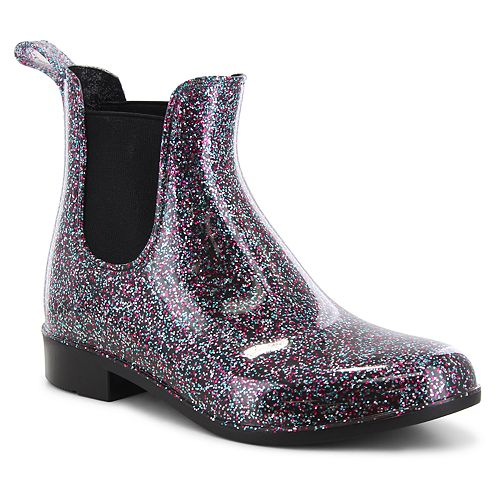 Western Chief Glitter Girls' Water Resistant Chelsea Rain Boots