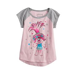 6c388f15 Toddler Girl Jumping Beans® Dreamworks Trolls Poppy Raglan Graphic Tee