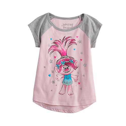 Toddler Girl Jumping Beans® Dreamworks Trolls Poppy Raglan Graphic Tee