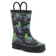 Western Chief Motocross Toddler Boys' Waterproof Rain Boots