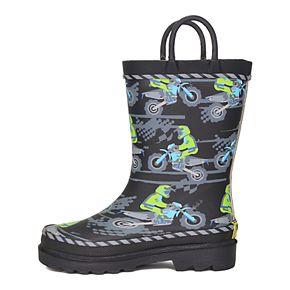 Western Chief Motocross Toddler Boys' Waterproof Rain Boots