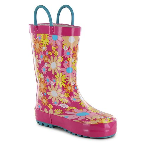 Western Chief Daisy Patch Toddler Girls' Waterproof Rain Boots