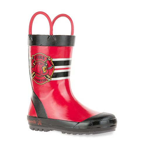 Kamik Fireman Toddler Boys' Waterproof Rain Boots