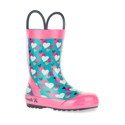Kamik Lovely Toddler Girls' Waterproof Rain Boots