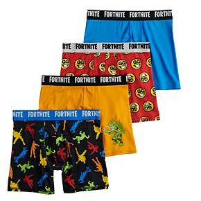 Boys 8-12 Fortnite 4-Pack Boxer Briefs